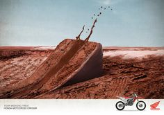 1dirt bike honda. 2. your weekend treat. 3. humor it is funny with chocolate cake as dirt 4. 18-29 men 5. persuade 6 it is funny 7 Nick C.