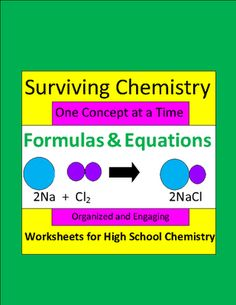 Formulas+&+Equations:+Organized+&+Engaging+Worksheets+for+High+School+Chemistry+from+E3+Scholastic+on+TeachersNotebook.com+-++(19+pages)+