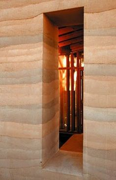 Rammed Earth Wall.