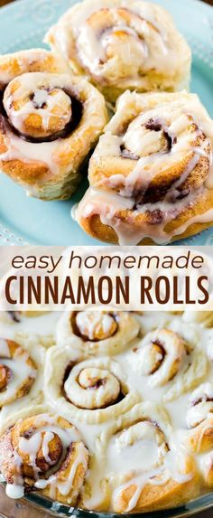 These easy cinnamon rolls are perfect for yeast beginners because they only requ. - These easy cinnamon rolls are perfect for yeast beginners because they only require 1 rise. No Yeast Cinnamon Rolls, Cinnamon Rolls From Scratch, Easy Homemade Cinnamon Rolls, Cinnamon Roll Recipes, Easy Cinnamon Bun Recipe, Pancakes Cinnamon, Easy Yeast Rolls, Healthy Cinnamon Rolls, Cinnamon Desserts