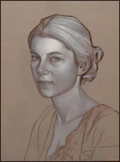 portrait painting method: base layers in white to create values, then lay color over (by Scott E Bartner)