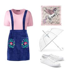 """""""UnicornPrincess"""" by medvedevalala on Polyvore featuring Lacoste, ShedRain, Aspinal of London, Lands' End и Boohoo"""