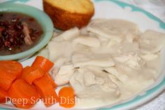 Style Hospitality (Corona): Deep South Dish: Step by Step How to Make Homemade Southern Style Chicken and Dumplings. I LOVE the recipes at Deep South Dish! ¯\_(ツ)_/¯ Hey, Ma! Drop Dumplings, Chicken And Dumplings, Stewed Chicken, Chicken Gravy, Rotisserie Chicken, Homemade Dumplings, Dumpling Recipe, Dumpling Dough, Homemade Biscuits
