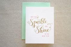 YES!!! Set of 6  Sparkle and Shine by ParrottDesignStudio on Etsy, $18.00