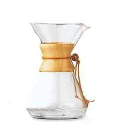 chemex (slow) coffee maker - You're in control: the water temperature, the flow, the pacing are up to you. It means the extraction is up to you!