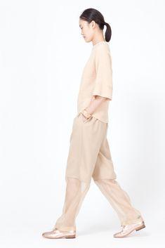 Nomia Baggy Organza Combo Pants (Camel)