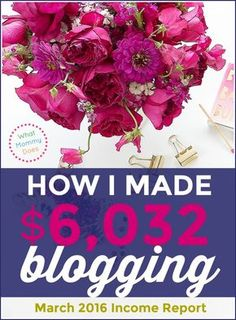 I can't believe you can make $6,000 per month in your free time blogging!! Lena explains exactly how her blog makes money in this post!!! She literally works part time and makes more than I do at my full time job!! $6000 per month = $72,000 per year! wow. just wow.She shows you how to build a blog from step 1 so it can earn extra income for you even if you can only work evenings and weekends. She started during her babies' nap times! :D | making money online, money making idea, side hustle…