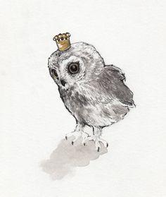 Owl Prince by annatyrrell on Etsy