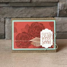 Hey there! So, what do you think of this color combo? I absolutely *love* it after creating a card with it! I used one of my favorite sets . Healing Hugs, Flower Stamp, Get Well Cards, Stamping Up, Stampin Up Cards, I Card, Card Making, Challenges, Catalog