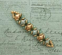 Linda's Crafty Inspirations: Playing with my beads...DiamonDuos, O-Beads & Rondelles