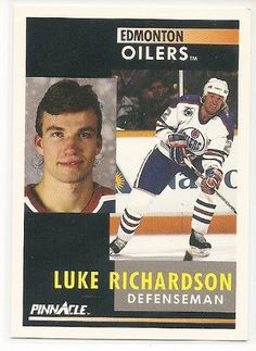 Luke Richardson 1991-92 Pinnacle Edmonton Oilers Card 212 >>> Want additional info? Click on the image.