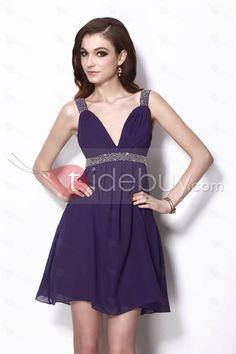 Stunning Column Purple Mini/Short Natilie's Party/Formal Dress