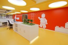 """The social areas in the office have been kept to a minimum because of the services provided by the building where the offices are located and abovementioned """"compact"""" planning setup. In this sense 2 multipurpose """"Loggias"""" have been designed."""