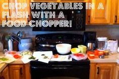 Save time in the kitchen with a food chopper. Healthy meals in minutes with time saving gadgets!