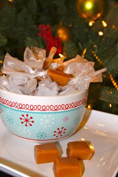 Gram's Christmas Karmels are the BEST caramel you'll ever taste! by whatscookingwithruthie.com #recipes #candy #christmas