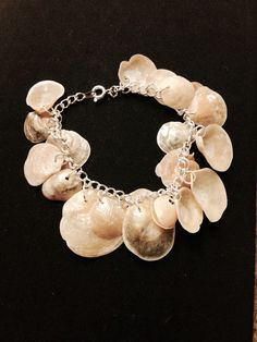 Sea Shell Bracelet opaque white Sanibel Island by SanibelShellShop