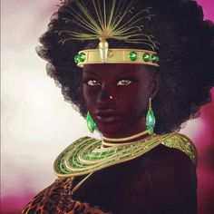 Oshun, the only female Inrunmole. who came to Earth and brings the Ashe, in order to make this Planet productive and inhabit by all kind of lives, principal the humans.