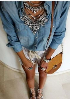 Glamorous Over The Top Statement Necklace #fashion #style #ootd #glam #statementnecklace - 27,90 � @happinessboutique.com