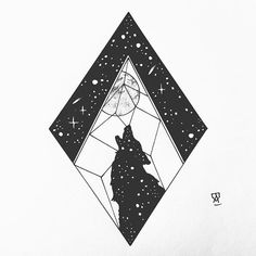 The wolf #illustration #illustrator #design #sketch #drawing #draw #ink #pen #linework #dotwork #blackwork #blackworkers #blackandwhite #moon #wolf #geometry #night #nightsky #star #art #artwork #artist #artistic #instaart #mountains #evasvartur #instafollow #tattoo #tattoodesign