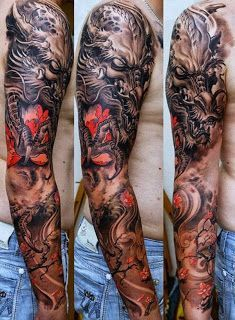 Awesome dragon sleeve