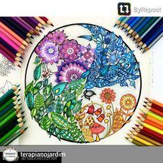flores mandala - floresta encantada - enchanted forest - Johanna Basford… @terapiacompinturas