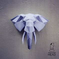 You can make your own elephant head for wall decoration! Printable DIY template (PDF) contains 13 pages. Use 160-240 g/m2 colored paper. Sizes of the head (height) - 50 cm (A4) or 70 cm (A3). I would rather recommend using A3. If you need another size of finished sculpture, just