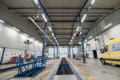 One of Luxon LED modernizations is the illumination of the workshop of Volvo Trucks, a well-known car brand. As part of the implementation, the luminaires were also changed in the external area. Workshop Design, Workshop Ideas, Volvo Trucks, Garage Shop, Garage Design, Car Wash, Case Study, Tractors, Barn