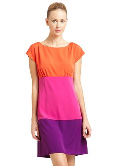 Magaschoni colorblock cashmere dress