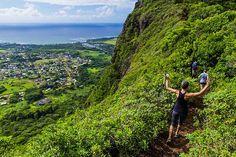 The views from the sleeping giant hike on kauai