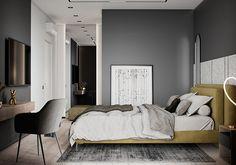 "Apartment in Kharkiv ZHK ""Dom na Sokol'nikakh"" - Dezign Ark (Beta) Home Room Design, Dream Home Design, Living Room Tv Unit Designs, Bathroom Design Luxury, Cool House Designs, Modern Room, Beautiful Bedrooms, Apartment Design, House Rooms"