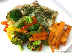 Steamed sole & vegetables