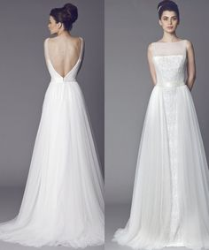 Tony Ward Wedding Dresses 2015 Collection. I would prefer it without all the beading down the front. Plain duchess satin would be perfect.