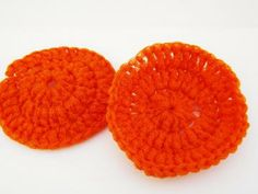 Orange Pot Scrubbers - Set of 2 - Kitchen Scrubbers - Bathroom Scrubbers
