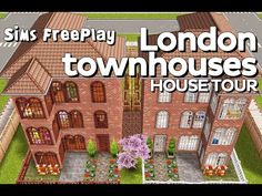 The Sims Freeplay - London townhouses (Original design) - YouTube