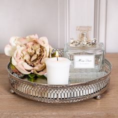 silver home accessories home accessories homeaccessories Silver Round Mirrored Plate Tray Silver Home Accessories, Shabby Chic Accessories, Living Room Accessories, House Accessories, Mirror Candle Plate, Mirror Plates, Candle Tray, Mirror Vanity Tray, Vanity Desk
