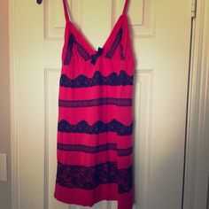 Victoria's Secret babydoll pajama dress-M Victoria's Secret red/black babydoll with lace detail. Super soft! EUC! Victoria's Secret Intimates & Sleepwear Chemises & Slips