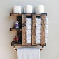 - Items similar to Wood Towel Rack, Rustic Shelving, Bathroom Towel Bar on Etsy, pallet projects shelves - Bathroom Towel Storage, Rustic Bathroom Shelves, Towel Shelf, Rustic Bathrooms, Rustic Shelves, Diy Bathroom Decor, Bathroom Towels, Small Bathroom, Towel Racks