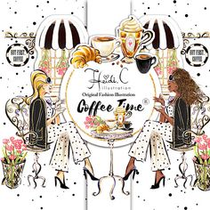 Fashion Coffee Clipart Espresso Cafe Clipart High Tea Clip
