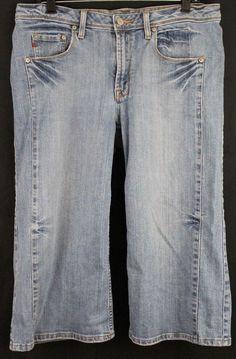 Seven 7 Premium Denim Wide Leg Capri Cropped Size 14 #Seven7 #CapriCropped