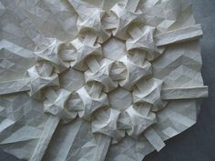 patternprints journal: GEOMETRICAL PATTERNS IN PAPER SCULPTURES BY ANDREA RUSSO