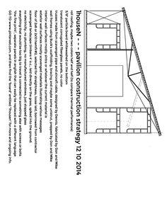 conceptual design for pavilion construction