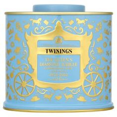 Twinings Diamond Jubilee blend tea. i may have to order this just to get the tin.