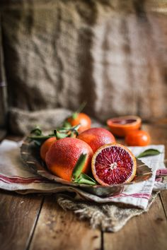 Blood Oranges Rustic ~ Mary Wald's Place - Blood Orange Panna Cotta