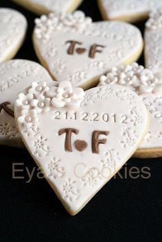 NICKET COOKIES - #cookies #NICKET Wedding Shower Cookies, Wedding Cake Cookies, Cookie Wedding Favors, Fondant Wedding Cakes, Wedding Cupcakes, Fondant Cookies, Cupcake Cookies, Cake Decorating Tips, Cookie Decorating