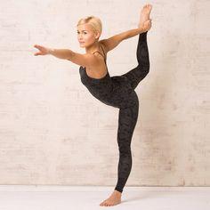 OGNX, Yogaleggings ekologisk bomull, Snake Grå