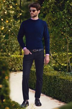 Another year, another fall season, and it's time again for the perfect transitional piece: the navy turtle neck layering from Basics.