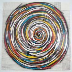 Espiral by Mafe.Mavromati, via Flickr  Paint & zentangle