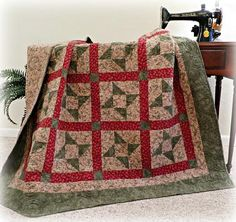 #443 Cuddle with Me  Quilt Pattern in 4 sizes including King. Get it at www.pleasantvalleycreations.com