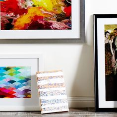 Create a standout gallery with a combination of vintage-inspired prints and personal snapshots.