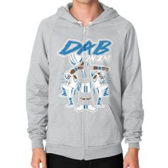 Dab On Em shirt Zip Hoodie (on man) Shirt